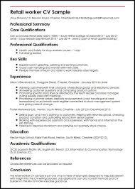 Retail Worker CV Sample