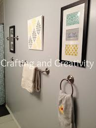 Gray And Yellow Bathroom Decor Ideas by Crafting And Creativity Blue Grey Yellow Bathroom Decor