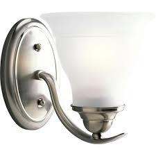 progress lighting collection 1 light brushed nickel bath