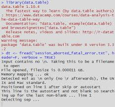 fread on particular file crashes R · Issue 2228 · Rdatatable data