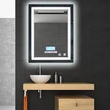miroir de salle de bain avec éclairage led lumière réglable 24w