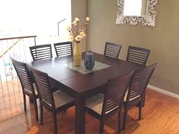 Beautiful Square Dining Table And Chairs What Size Seats 8 Chair Within Seater Room