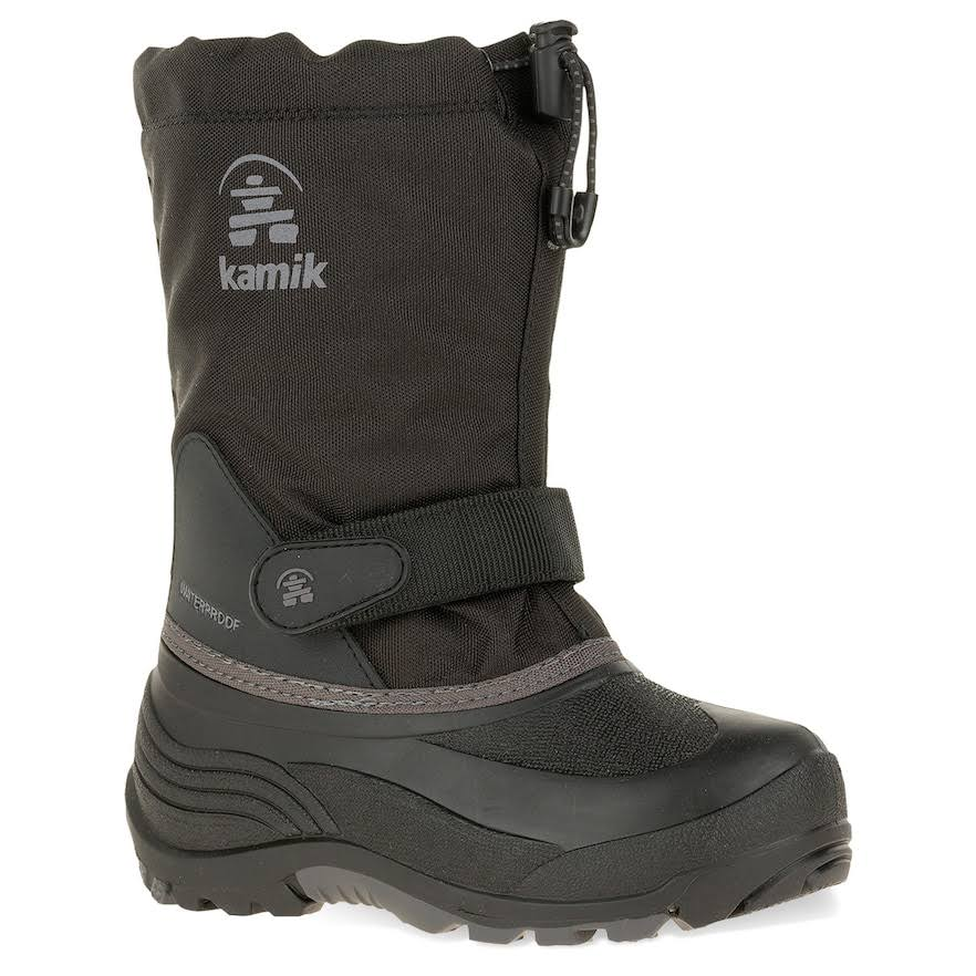 Kamik Kids' Waterbug5 Snow Boot (11, Black Charcoal)