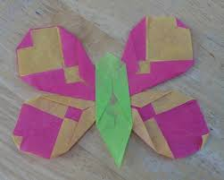 Folded Tissue Paper Butterfly