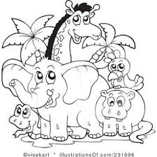 Zoo Animal Clipart Black And White clipartsgram
