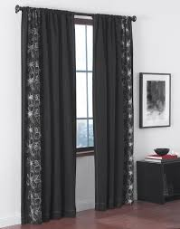 Front Door Side Panel Curtains by Decor Dark Grommet Curtains With Dark L Shaped Curtain Rod And