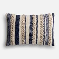 Decorative Outdoor Lumbar Pillows by Magnolia Home Zander Navy U0026 Ivory Lumbar Pillow Products