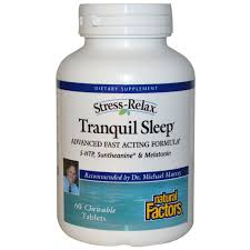 5 Htp Before Bed by Natural Factors Stress Relax Tranquil Sleep 60 Chewable Tablets