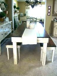 Rustic Tables With Benches Luxury Kitchen Design Ideas Including Dining Room Table Bench Plans