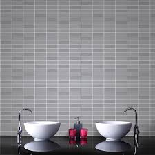 Metallic Tile Effect Wallpaper by How To Quickly Decorate Your Kitchen U0026 Bathroom