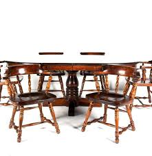Ethan Allen Dining Room Table by Vintage Ethan Allen Colonial Style Pine Dining Set Ebth