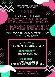 Magnolia Park Totally 80's Movie Night - Indiana Jones Raiders Of ...