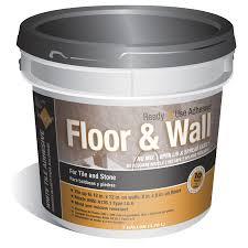 shop tec 1 gallon trowel tile adhesive at lowes