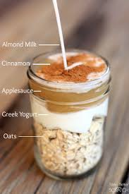 Pumpkin Pie Protein Overnight Oats by Cinnamon Apple Overnight Oats Make The Easiest Healthy Grab And