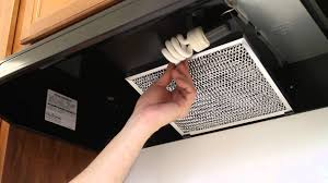 how to replace a kitchen vent light bulb and filter