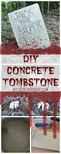 Spooky Tombstone Sayings For Halloween by Halloween Craft Diy Concrete Tombstones