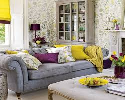 contemporary gray purple living room design bedroom decoration