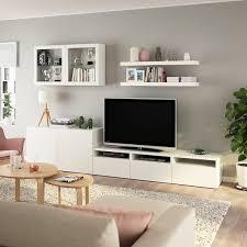 bestå lack tv möbel kombination weiß ikea österreich