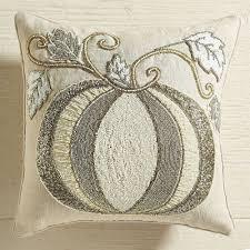 Pier One Christmas Throw Pillows by Pier 1 Throw Pillow Pumpkin Beaded White Cream Fall 14 X 14 New