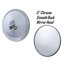100 1950 Chevy Truck Parts 5 Chrome Smooth Exterior Door Round Rear View Mirror Head 19471972
