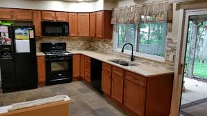 Kountry Cabinets Home Furnishings Nappanee In by Kountry Wood Products Georgetown Cherry Cider Cabinets Kitchen