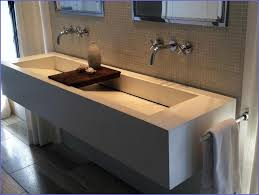 Trough Sink With Two Faucets by Bathroom Sink Bathroom Trough Sink Double Faucet Narrow Sink