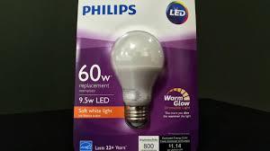 review philips 60 watt equivalent soft white led light bulb