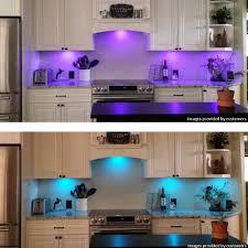 bason rgb led cabinet lighting closet puck lights color