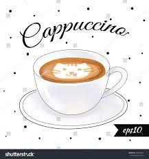 Cappuccino Vector Illustration Eps 10 Cat Art Coffee