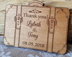 Wood Thank You Cards Unique Gifts Rustic Suitcase Card