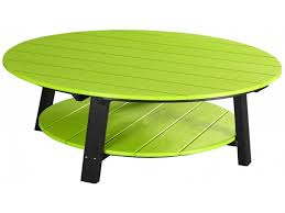Furniture Round Outdoor Coffee Table Luxury Outdoor Poly Deluxe