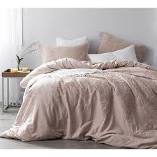 Baroque Stitch Duvet Cover Ice Pink Fawn Embroidery Free