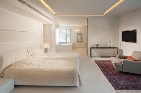 chambre a coucher blanc design interieur idées plafond moderne design élégant chambre à