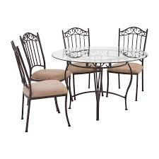 72 OFF Wrought Iron Round Glass Table And Chairs Tables Wrought Iron Childs Round Chair For Flower Pot Vulcanlirik 38 New Stocks Ding Table Ideas Thrghout Shop Somette Glass Top Free Pin By Annora On Home Interior Room Table Nterpieces Arthur Umanoff Set 4 Chairs Abt Modern Room White And Cast Patio Oval Nice Coffee Sets Pub In Ding Jeanleverthoodcom 45 Detail 3 Piece Stampler Small Best Base Luxury