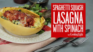 How to Make Spaghetti Squash Lasagna with Spinach Cooking Light