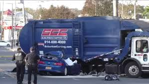100 Garbage Truck Accident Injuries Reported After Garbage Truck Car Collide In Mamaroneck