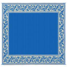 Polypropylene Patio Mat 9 X 12 by Patio Mat Polypropylene Classical Design 9 U0027 X 12 U0027 Blue Beige