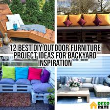 12 Best DIY Outdoor Furniture Project Ideas For Backyard Inspiration