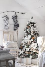 This Cozy Master Bedroom Is Beautifully Decorated For Christmas With Soft Neutrals And Tons Of Farmhouse