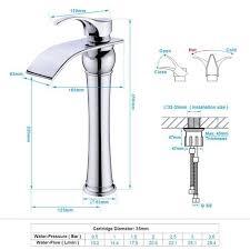 messing chrom einhebel waschtischarmaturen mit hoher wasserfall auslauf wasserhahn armatur bad für badezimmer waschbecken