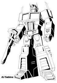 Optimus Prime Coloring Page Transformer