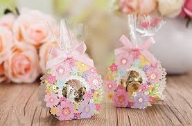 50 Pink Flower Wreath Wedding Favor Boxes DIY Favors For Guests Transparent Gift Spring Window From