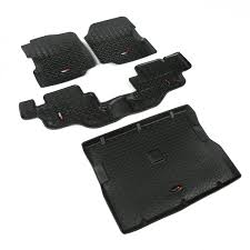 Rugged Ridge Floor Liners by Amazon Com Rugged Ridge All Terrain 12988 09 Black Front Rear