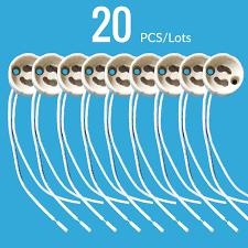 Porcelain Lamp Socket Wiring by Ceramic Gu10 Base Socket Adapter Wire Connector Porcelain Halogen