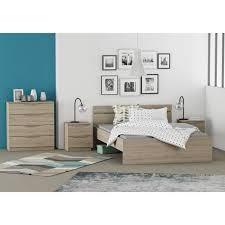 style de chambre adulte chest chambre adulte complète style contemporain décor chêne