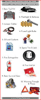 10 Items You Should Keep In Your Classic Car For Road Trip ... Roadside Assistance Auto Emergency Kit First Aid Inex Life How To Make A Winter For Your Car Building Or Truck Ordrive News And With Jumper Cables Air Hideaway Strobe Lights Automotives Blikzone 81 Pc Essentials Amazoncom Lifeline 4388aaa Aaa Excursion Road 76piece 121piece Compact Kit4406 The Home Depot Cartruck Survival 2017 60 Piece Set Deal Guy Live Be Ppared With Consumer Reports