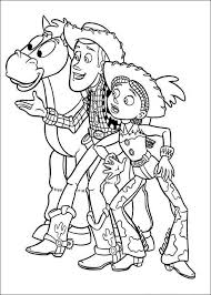 Toy Story Woody And Jessie Disney Coloring PagesColoring