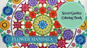 How I Color Flower Mandala