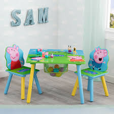 Toddler Table Chairs Set Peppa Pig Wooden Furniture W/ Built-In Storage  3-Piece Toddler Table Chairs Set Peppa Pig Wooden Fniture W Builtin Storage 3piece Disney Minnie Mouse And What Fun Top Big Red Warehouse Build Learn Neighborhood Mega Bloks Sesame Street Cookie Monster Cot Quilt White Bedroom House Delta Ottoman Organizer 250 In X 170 310 Bird Lifesize Officially Licensed Removable Wall Decal Outdoor Joss Main Cool Baby Character 20 Inspirational Design For Elmo Chair With Extremely Rare Activity 2