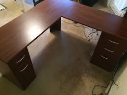 Altra Chadwick Collection L Shaped Office Desk by Altra Chadwick Collection L Desk Virginia Cherry Furniture In